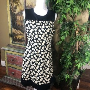 Anthropologie Leifnotes Notched Dots Dress Sz 10